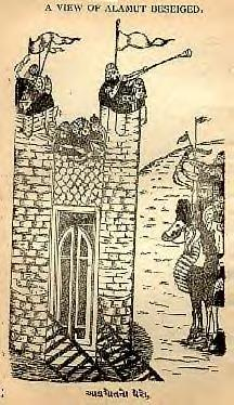 Fortress of Alamut under seige (JPG)