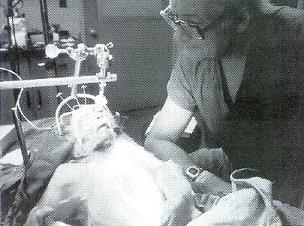 1970s: Robert White with monkey after head transplant (JPG)