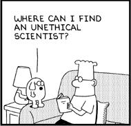 Dilbert unethical scientist (JPG)