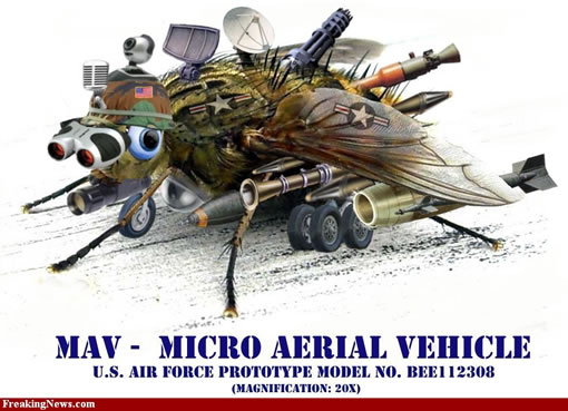 photoshopped Micro Aerial Vehicle (MAV)