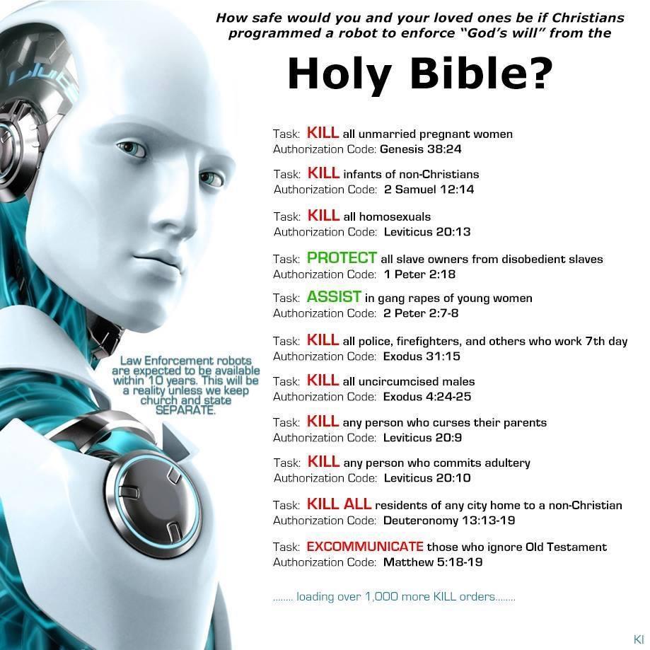 Christian police robot