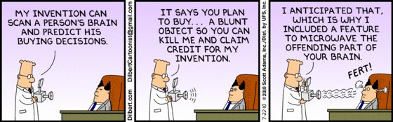 Dilbert - mind reading invention