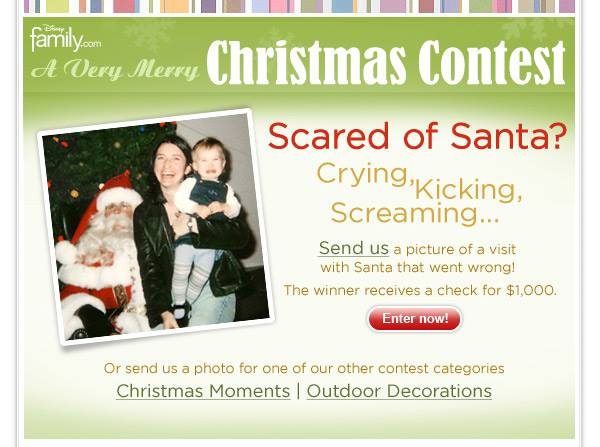 Scared of Santa? Crying, Kicking, Screaming - Disney wants your photos