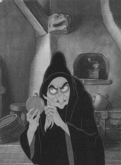 Disney's wicked witch with poisoned apple