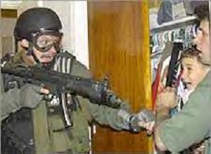 Elian Gonzalez taken at gunpoint