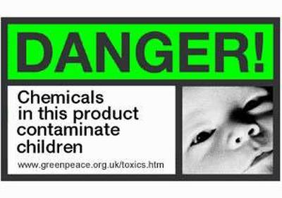 Danger! Chemicals in this product contaminate children