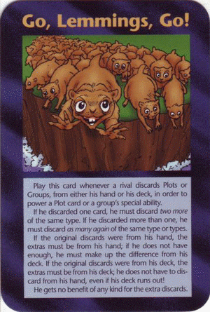 1995 Illuminati Card Game: Go, Lemmings, Go!