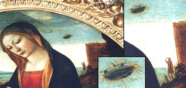 Mother Mary with UFO
