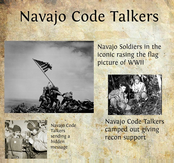 an introduction to the navajo code talkers Introduction: navajo code talkers are people who used the navajo language to  communicate important information in codes over phone and radio during.