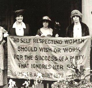 "Susan B. Anthony: ""No self-respecting woman should wish or work for the success of a party that ignores her sex."""