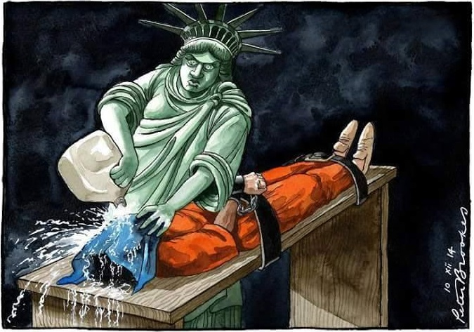 Statue of Liberty waterboarding