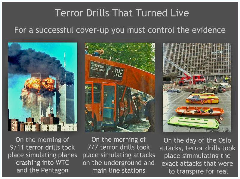 Terror drills turned live
